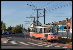 TEC 9175 - Route de Thuin (Spoorpunt.nl) Tags: zaterdag 13 oktober 2018 fotorit type sj wagen 9175 pays noir charleroi tec asvi afsleeptram depot anderlues sm 9148 chaussée de thuin route rue des déportés renovatie modernisering