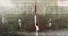 Zombie Kids (Seraphina Juliesse) Tags: halloween zombie kids scary maypole scarey haunted house bloody firestorm sl secondlife