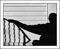 Shadow Man (Timothy Valentine) Tags: 2018 blackandwhite large shadows datesyearss lines silverefex self 1018 elramon eastbridgewater massachusetts unitedstates us