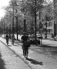 Cyclists (marionvankempen) Tags: people portraits finesse group throughherlens blackandwhite