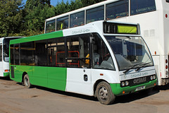 Cotswold Green, Nailsworth Y868 PWT, Optare Solo at the depot (majorcatransport) Tags: gloucestershirebuses cotswoldgreennailsworth nailsworth optare optaresolo