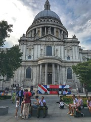 St Paul's Cathedral, City of London, England (PaChambers) Tags: europe england stpaul's iphone girl summer 2018 cityoflondon london park historic