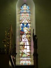 Church - St Andrews Catholic, Braemar 180711 [Stained Glass Window 4a] (maljoe) Tags: church churches braemar stainedglasswindow stainedglass stainedglasswindows