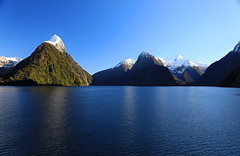 Milford (Matt Champlin) Tags: bucketlist milford newzealand milfordsound mountains amazing travel awe snow winter waterfall beautiful incrediible life nz boat boating cruise cruising canon 2018 nature landscape peaceful calm calming morning