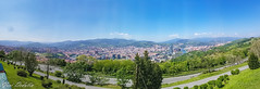 Bilbao - Panoramic view from Artxanda (Yuri Dedulin) Tags: europe eu travel bilbao spain panorama viewpoint mount artxanda parque del romantic culture captivating charming historic park funicular guggenheim museum museo overview landscape panoramic water river sky outdoor downtown 2018 yuri dedulin
