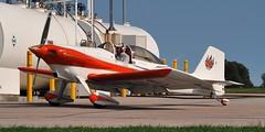 1975 Van's RV-3 low-wing home-built, C-GBRV - Brampton Airport, Caledon, Ontario (edk7) Tags: olympusomdem5 edk7 2017 canada ontario peelregion caledon bramptonairport bramptonflightcentre bramptonflyingclub vansaircraftrv3 vansrv3 sncrb67 1975 cgbrv amateurbuilt singleseat singleengine lowwing homebuilt kit aircraft civilian civil passenger plane airplane aviation generalaviation mechanical machine propellor propeller apron pavement person pilot rural sky tree grass