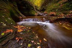 Fall Creek Gorge (jrobfoto.com) Tags: in autumn moss landscape indiana canyon water pothole sony raw fallcreekgorge waterfall alpha tumblr 500px twitter flora fauna outdoor a7rii fullframe williamsport unitedstates us
