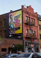 NON-TOXIC LIFE - PORTLAND (coljacksg) Tags: nontoxic life portland gender vairable antismoking billboard oregon chinatown gay crossdresser black