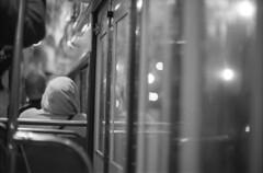 quotidian (m_travels) Tags: candid man hoodie bokeh night muni sf tram bus commute everyday street kodaktmax3200 nightphotography blackandwhite плёнка film 35mmfilm grain style analog argentique peopleofsanfrancisco mood