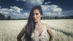 Andréia (Aaron Owen Smith) Tags: modeling modelling summer fields beauty dress clouds