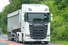 Scania S580 Bulk Tipper YN67 UER (SR Photos Torksey) Tags: transport truck haulage hgv lorry lgv logistics road commercial vehicle traffic freight scania s580 bulk tipper