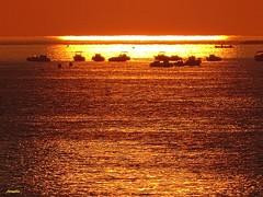 Enchantment ! (Armelle85) Tags: extérieur nature paysage mer océan sunser coucher de soleil lumière couleur horizon bateau eau