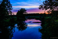 Kleine Nete at twilight (cstevens2) Tags: antwerpenprov avond belgique belgium belgië europe evening flanders flandre kasterlee kleinenete river stream tielen vlaanderen watermolenstraat fishladder rivier sunset vistrap zonsondergang