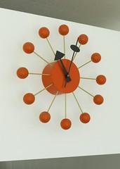 George Nelson Orange Ball Clock (hmdavid) Tags: georgenelson midcentury modern orange ball clock