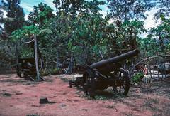 WWII Japanese Artillery at Vilu Open-Air Museum (Serendigity) Tags: artillery japanese rusting solomonislands pacificocean guadalcanal secondworldwar relict gun wwii wreck guadalcanalprovince sb kodachrome 35mm slide film