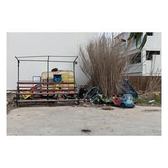 Sidari, Corfu, August 2018 (Number Johnny 5) Tags: tamron d750 nikon decay caravan corfu mundane trash urban imanoot rubbish topographics ordinary observations sidari 2470mm broken banal johnpettigrew bench