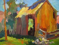 Larisa Aukon, The Ba (seewhatyoumean) Tags: larisa aukon the barn by oil ~ 12 x 16