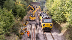 70801 (JOHN BRACE) Tags: 2013 general electric erie pa usa class 70 co diesel loco 70801 station colas livery seen during track renewal works between crawley ifield photo taken from goffs park footbridge looking towards