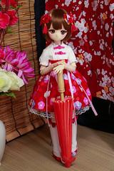 Mid-Autumn Festival project (kwokt59) Tags: doll volks dollfie dream mini mdd 14 13 bjd ddh01 dd midautumn chinese dress dresses red