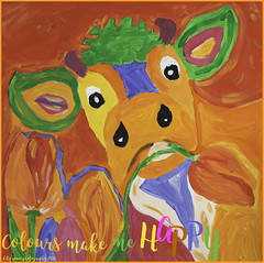 #Happy (aenee) Tags: aenee nikond7100 nikkor50mm118d smileonsaturday happywords happy happiness workshop paintingworkshop colourful kleurrijk cow koe dsc6331 20180927