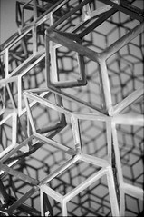 Geometries (nikodemus) Tags: sculpture geometry abstract bw analog film yashica helsinki ilford hp5 rodinal standdevelopment electro35 35mm filmphotography