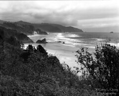 Oregon Coast, Cannon Beach (Gary L. Quay) Tags: cannonbeach oregon film ilford hp5 oregoncoast beach sea ocean waves tide landscape deardorff nikkor sand garyquay