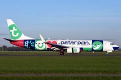 PH-HSI Boeing 737-8K2 Transavia / Peter Pan @ Schiphol 26-Sep-2018 by Johan Hetebrij (Balloony Dutchman) Tags: phhsi boeing 7378k2 transavia peterpan b737 737 738 737800 tra ams amsterdam schiphol airport aircraft 2018 vakantieclub