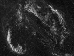 The Veil Nebula - H-alpha Monochrome (AllAboutRefractors) Tags: nebula nebulae supernovaremnant refractor astrophotography astronomy astrophysics qsi starlightxpress narrowband