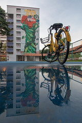 After a night of heavy downpour (BP Chua) Tags: downpour water rain reflection singapore hougang bicycle canon 7d2