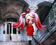 The Grand (pure_embers) Tags: pure laura embers blythe doll dolls custom photography uk england girl pureembers gbaby penny emberspenny portrait hair red dress haunting pennywise