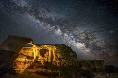 Metate Arch (Bill Devlin) Tags: metate arch utah national park hoodoo escalante devils garden night astrophotography astro milkyway milky way stars