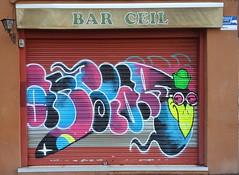 GRAFITTIS BARCELONA 2018 (Javier Ibañez) Tags: cof041dmnq cof041ally graffitis persianas spray arte street art urban graffiti paris france hbajijo wall mur painting peinture urbain citrouille pintura