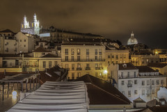 When the city sleeps (Wizard CG) Tags: epl7 lisbon lissabon portugal portuguese alfama cityscape city urban view roof rooftop river travel europe church panteon skyline outdoor architecture longexposure nightshots hdr