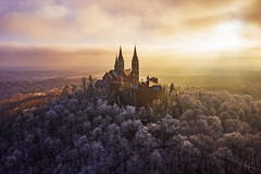 Holy Hill (Daniel000000) Tags: holy hill wisconsin trees frost winter sunset light clouds sky nature landscape dji mavic 2 pro drone uav church art old white explore midwest adventure travel tree cloud forest woods country