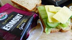 Sandwich for lunch (Sandy Austin) Tags: sandyaustin massey westauckland auckland northisland newzealand food sandwich pork bread lettuce cucumber cheese