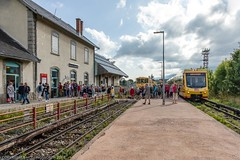 Journey from Villefranche-de-Confluent to Mount-Louis and return on the uncomfortable and not recommended Yellow Train (doublejeopardy) Tags: frencharmy fort mountlois trainjaune base yellowtrain