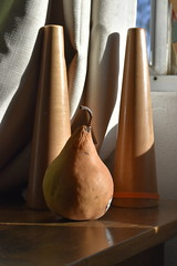 Light Study II (aakeene) Tags: curtain fruit shadow table light