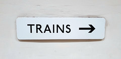 Trains (R~P~M) Tags: train railway station sign enamel vitreousenamel arrow direction hollandpark centralline londonunderground london england uk unitedkingdom greatbritain