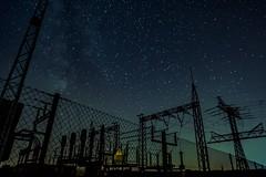 Hochspannung Lebensgefahr (ReppiX) Tags: nachtaufnahme nightshoot hochspannung nacht sterne stars power night rwe energie umspannwerk nachtfotografie