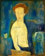 Autoportrait blue (1939) - Arpad Szenes (1897 - 1985) (pedrosimoes7) Tags: arpadszenes arpadszenesvieiradasilvafoundation praçadasamoreiras lisbon portugal autoportrait autoretrato selfportrait
