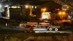 Nighttime Coke Train & Slag Trucks (knutsonrick) Tags: