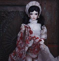 ... (pure_embers) Tags: pure embers bjd sd 13 doll dolls normal skin ns uk supia rosy electra girl supiadoll pureembers emberselectra photography photo ball joint resin angeltoast faceup portrait ayuana gown blood splattered dark halloween story