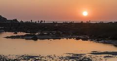 Staring at the sun (GC - Photography) Tags: atardecer sunset sea mar rocas rocks people nikon d500 ciesislands islascies vigo pontevedra galicia españa spain gcphotography paisaje landscape nationalpark parquenacional illasatlanticasdegalicia sol sun cies tokinaaf1116f28