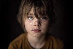 My Boy ({jessica drossin}) Tags: jessicadrossin child freckles boy hair eyes face portrait childhood dark wwwjessicadrossincom