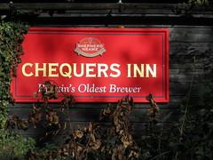 The Chequers Inn (paidetres) Tags: heaverham kent walk thechequersinn pub pubsign shepherdneame