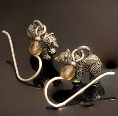 Ursa And Amber Amulet Earrings (brucekester@sbcglobal.net) Tags: macromonday vowel ursa earrings amulet