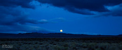 Blue Hour -- Moon Rising at Mono Lake, California (Don Dunning) Tags: bluehour california canon5dmarkiii canonef2470mmf28liiusm clouds dusk evening monocounty monolake moonrising sky unitedstates