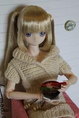 Lecker!!!! (Ninotpetrificat) Tags: azone azonedoll asiandoll doll japandoll azoneinternational obitsu luluna hobby handmade cute kawaii comidadejuguete muñeca puppe fridgemagnet knitting punto toys