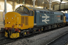 37424 (37558) 3S77 (Rob390029) Tags: drs direct rail services class 37 37424 37558 avro vulcan br british train track tracks rails loco locomotive newcastle central station ncl ecml east coast mainline