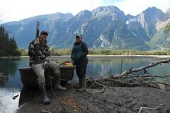 Lunch Area (Fish as art) Tags: adventure wilderness outdoorphotography takuriver britishcolumbia britishcolumbiasalmon canada canadiangeography people portrait naturallight fuji